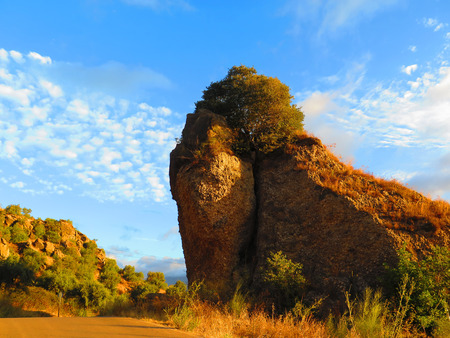 horison: Lion shaped rockscape in Alora Countryside, Andalucia