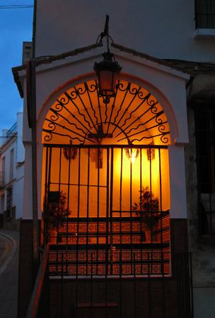 illuminated: Close-up of Illuminated Shrine in Alora, Andalucia