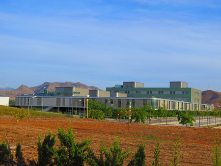 ALORA SPAIN - OCTOBER 7TH. New hospital in Guadalhorce valley still not opened 3 years after completion, Alora Spain, October 7th 2015.