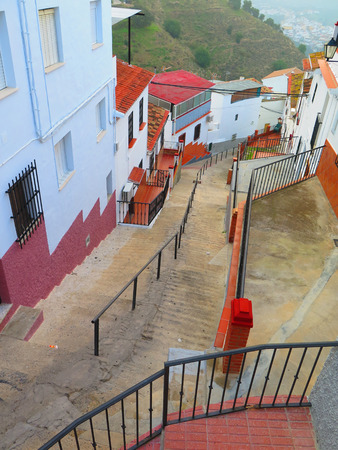 steep: Ornate railing and steep steps in Alora Andalucia