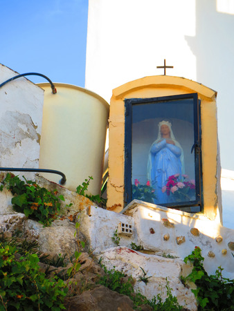 andalucia: Close-up of elevated Shrine and water tank in Alora, Andalucia