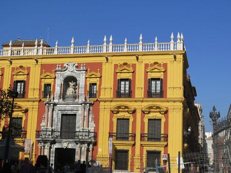 episcopal: Malaga Episcopal Palace building in autumn sunshine