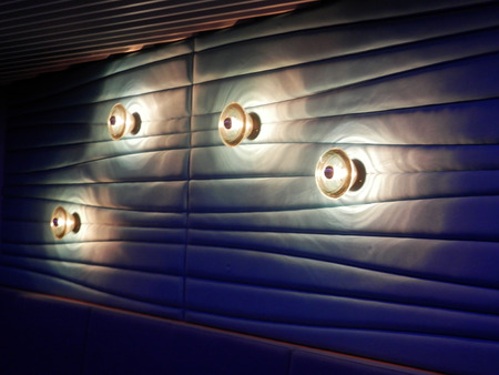 holiday lights display: Artistic display of lights in Night club in Copenhagen hotel