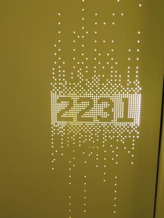 perforated: Decorative perforated illuminated Hotel room number