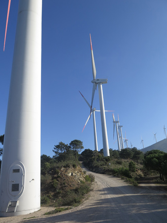 windfarms: Windfarm on Sierra Aguas Mountain near Alora, Andalucia