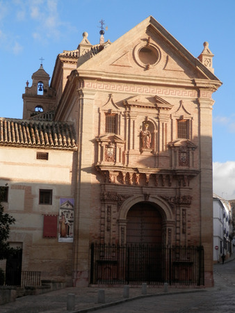 andalucia: Antequera church belfry on sunny day, Andalucia, Spain