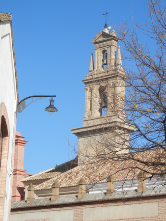 belfry: Antequera church belfry on sunny day, Andalucia, Spain