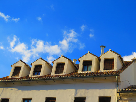 town centre: Apartment block building in Antequera town centre Andalucia