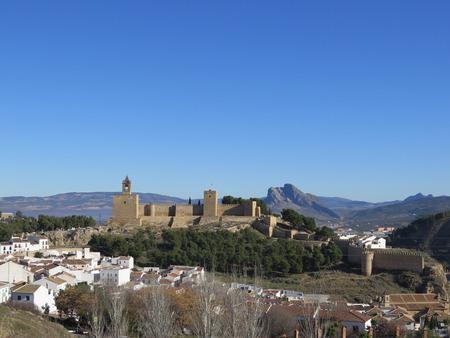 alcazaba: Alcazaba Castle in Antequera, Andalucia, Spain