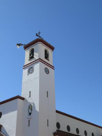 belfry: Fuengirola church belfry on sunny day Andalucia Spain