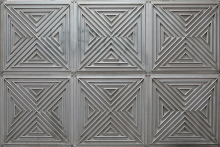 pannel: Relief metal panneling at Madrid Atocha Station
