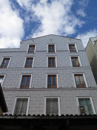 apartment block: Madrid Apartment block with breeze block facade