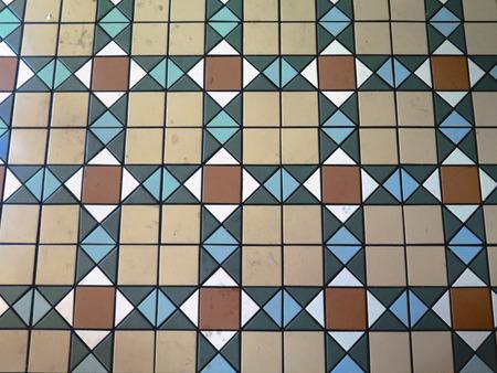 mosaic floor: Tiled mosaic floor in Madrid Metro Station