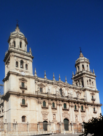 Cathedral of Jaen and Plaza Santa Maria, Sagrario District, City of Jaen, Province of Jaen, Andalusia (Andalucia), Spain, Europe