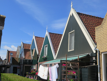 Typical house of the fishing village Urk, Flevoland, The Netherlands