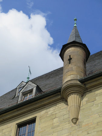 turret: Turret on town hall in Osnabruck, Germany