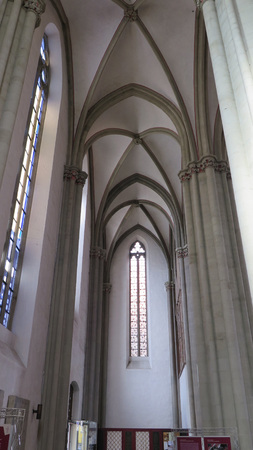 Vaulted Church roof in Saint Mary Church in Osnabruck, Germany