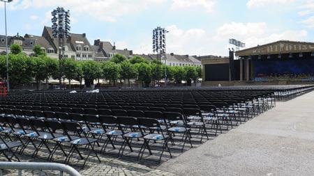 generic location: Chairs on Vrijthof Square, Maastricht, Limburg, The Netherlands, Europe