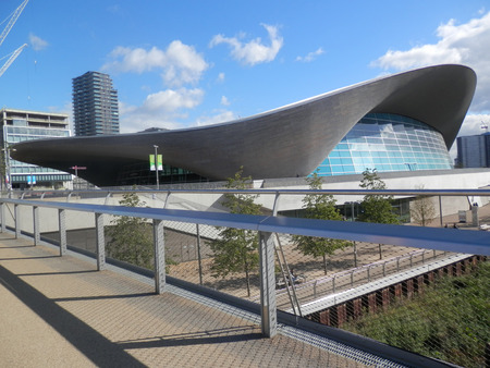Olympic Park Aquatic Centre, London, England, United Kingdom, Europe Imagens - 64808367
