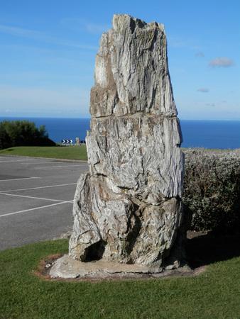 large rock: Large Rock at portland bill carpark, dorset