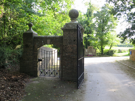 wrought: Wrought Iron gates and entrance Stock Photo