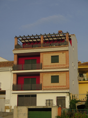 recently: Recently renovated Residential Building in Allora, Andalusia Stock Photo