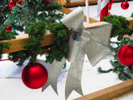 Closeup of Christmas Decoration in Malaga Street