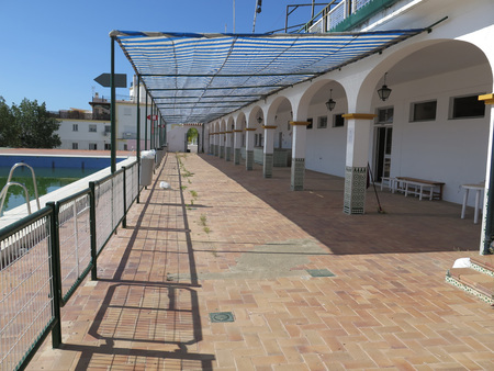 Patio at Municipal Swimming Pool in Andalusian Village