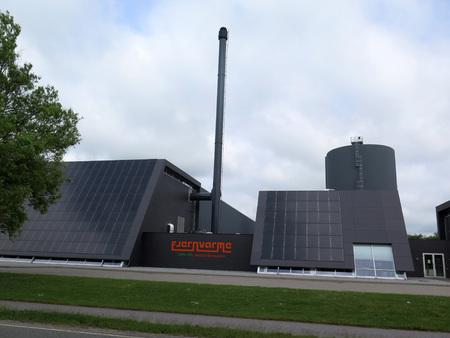 Graasten, Denemarken - 14 juni 2017: Zonne-energiecentrale Redactioneel