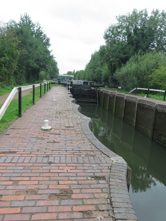 Lock basin on Kennet and Avon Canal at Aldermaston, England