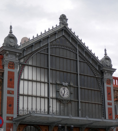 Newly renovated front elevation of Almeria railway station, Andalusia, Spain