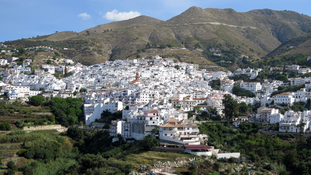 white Andalusian village of Competa on a cloudy day