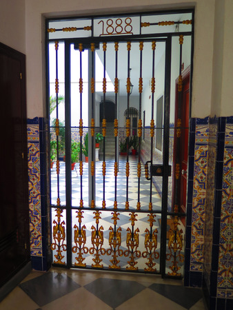 Secluded courtyard in old part of Tarifa, Andalusia