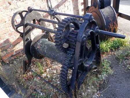 Old winch gear from Canal lock in Northhampton shire village of Stoke Bruern