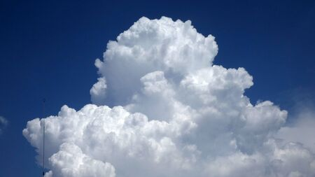 Cumulonimbus clouds bubbling up over Guadalhorce Valley Andalusia, Spain