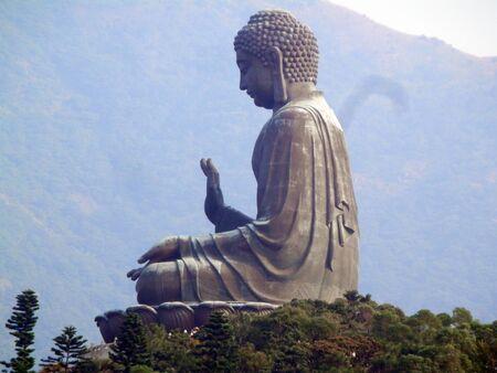 Tian Tan Buddha is a large bronze statue of Buddha Shakyamuni, completed in 1993, and located at Ngong Ping, Lantau Island, in Hong Kong