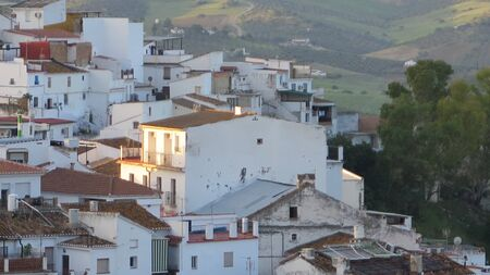Only house in Andalusian village catching ray of sunlight