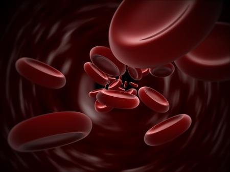 leucemia: 3D fotorrealista eritrocitos. Bien por concepto de salud, medicina, biología y Cardiología