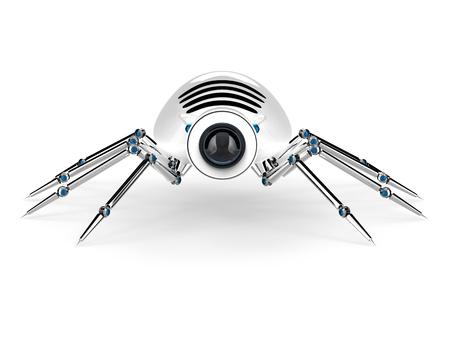 insecto: Robot Araña Android. Bueno para la robótica, la tecnología, la computadora y el concepto de vigilancia Foto de archivo