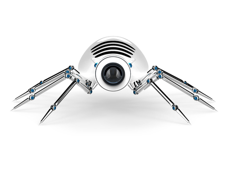 Robot Spider Android. Good for robotics, technology, computer and surveillance concept