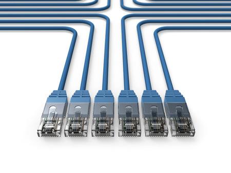 ネットワーク、ネットワーク ケーブル、LAN ケーブル 写真素材