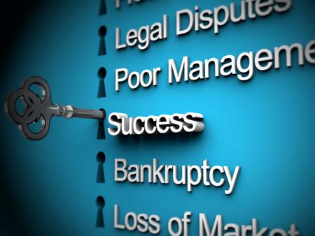 pitfall: Business problems, silver key, success text