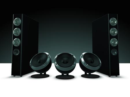 orador: Alta definición altavoces de audio, música Foto de archivo