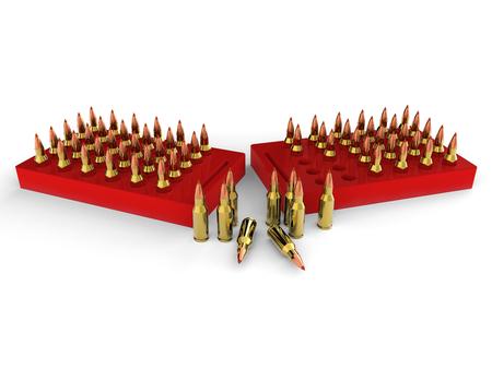 gunshot: Bullets, ammo, ammunition Stock Photo
