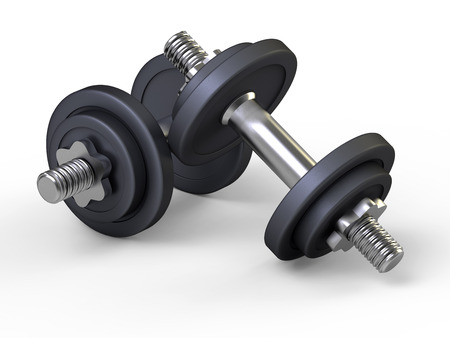 Weights, dumbbells, gym Stock Photo