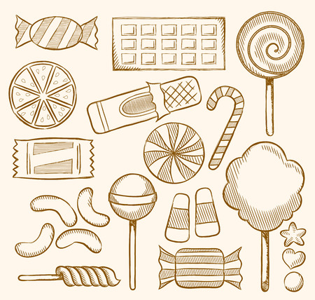 indulgence: Candy, Sweets, Confectionery Illustration