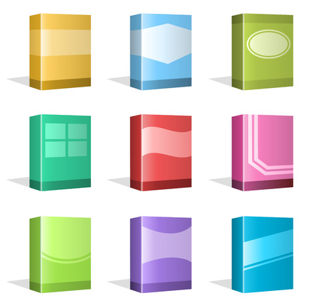 computer software: Software Boxes, Ebook Cover Designs