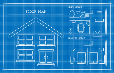 Blank blueprint grid architecture royalty free cliparts vectors 46325833 blueprint house plan architecture malvernweather Gallery