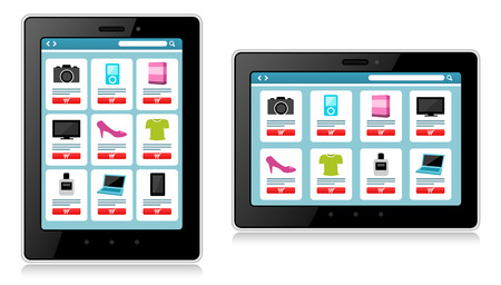 mobile device: Tablet, Mobile Device, Online Shopping