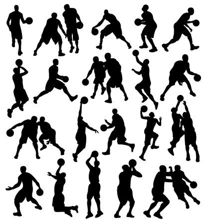 Basketball, Sport, Athlete, Silhouette